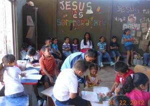 A children's Sunday School class at San Miguel